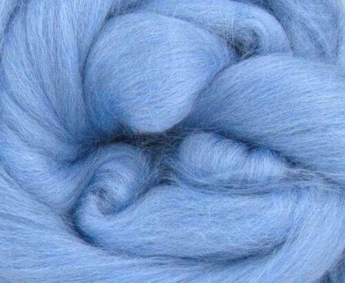 wet felting needle felting tops 50g Pale Blue Merino Wool fibre roving