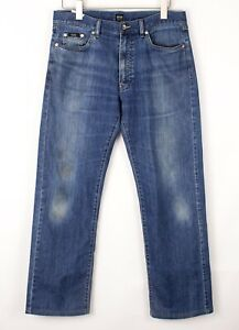 HUGO BOSS Hommes Texas Slim Jambe Droite Jeans Extensible Taille W34 L30