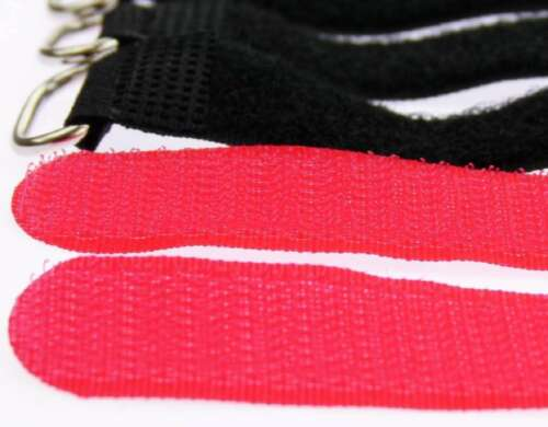 10x Velcro Straps Cable Velcro 300 x 20mm Red Cable Velcro Cable Ties Velcro