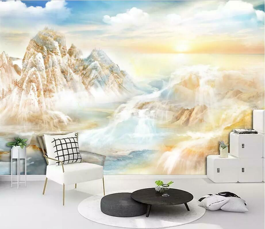 3D Mountain Pattern I3073 Wallpaper Mural Sefl-adhesive Removable Sticker Wendy
