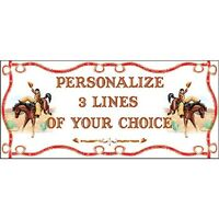 Cowboy Cowgirl Horse Party Western Rodeo Personalized Cowboy Bronco Banner Sign