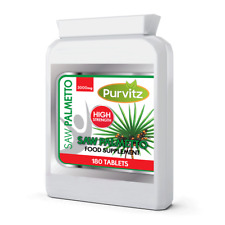 Saw Palmetto Extract 3000mg Hair Loss, Urinary Tract Prostate 180 Tablets UK