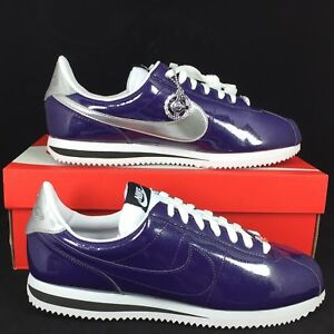 New Nike Cortez Size 11.5 Basic Prem QS Purple Ink Patent Leather 819721-500