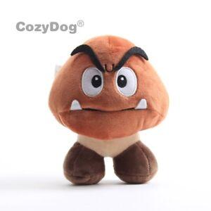 New Super Mario Bros Goomba Poisonous Mushroom 15cm 6 Plush Toy