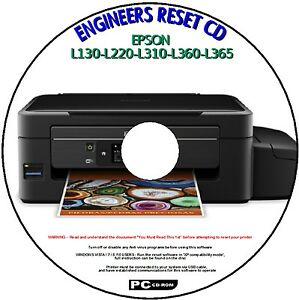 Details about EPSON L130-L220-L310-L360-L365 PRINTER WASTE INK PAD COUNTER  RESET SERVICE PC CD