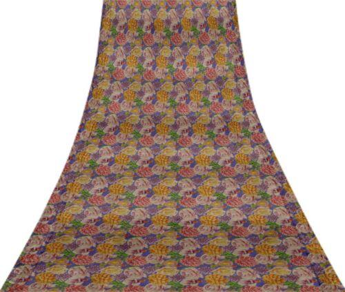 FL-1316E Svasti Vintage reine Seide Sari renoviert gebrauchter Craft Stoff Sari
