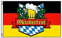 3x5 German Oktoberfest Flag Beer Glass Bavaria October Event Banner