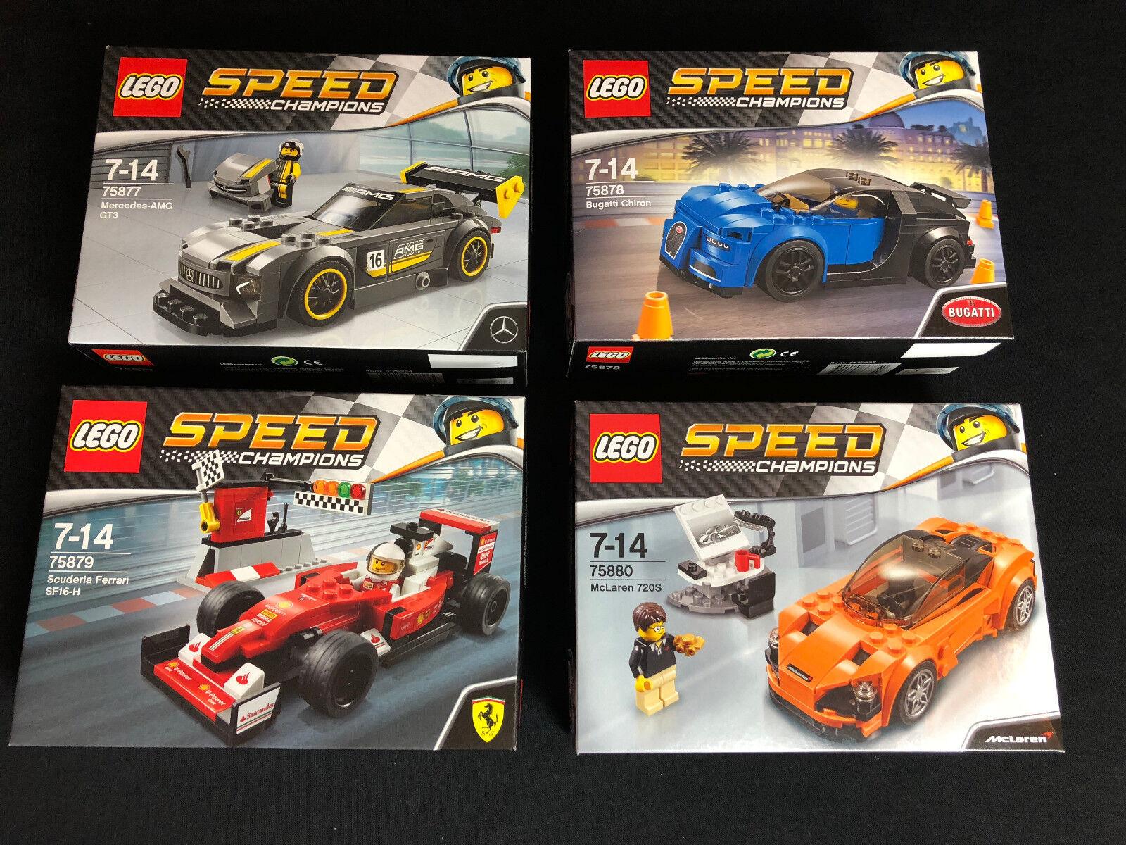 Lego 75877 75878 75879 75880 4  x Speed Champions série 3 Neuf nouveau En parfait état, dans sa boîte scellée NEUF dans sa boîte  design unique