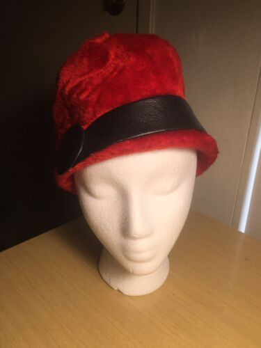 Miss Dior By Christian Dior 1960's Mod Wool Hat Re