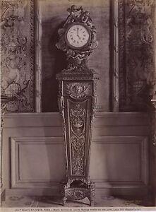 Museo-Del-Louvre-Parigi-Orologio-Francia-Vintage-Albumina-Ca-1880