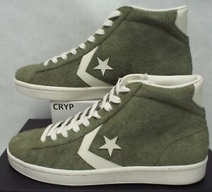 Details about New Mens 10 Converse Pro Leather Mid Medium Olive Star Player Shoes 157690C $8