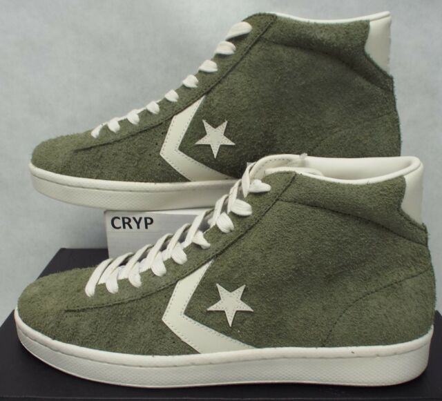 19fcfac858e New Mens 10 Converse Pro Leather Mid Medium Olive Star Player Shoes 157690C   8