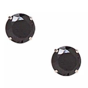 925 Solide Argent Sterling Rond 9 mm Noir Cubique Zircone Clous D'Oreilles mousseux-afficher le titre d`origine UbHW0wZ9-09164546-845476397