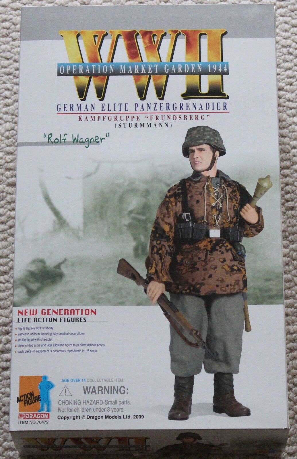 Dragon action figure ww11 german rolf wagner 1 6 12'' 70472 did cyber hot toy
