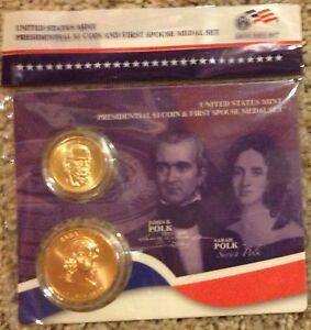 2009 James K Polk Presidential $1 Coin /& First Spouse Sarah Medal Set sealed