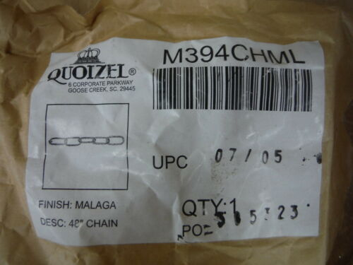 """Quoizel Malaga 48/"""" Chain M394CHML For Lighting Fixture"""