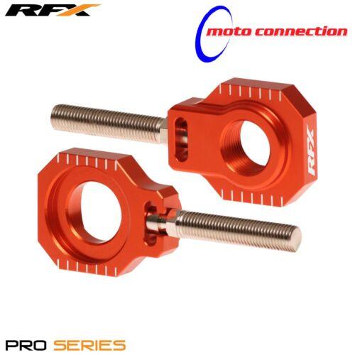 NEW RFX  CNC PRO SERIES SWINGARM AXLE BLOCKS ORANGE KTM SX125 SX150 SX250 2017