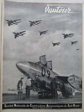 7/1956 PUB SNCASO AVION VAUTOUR CHASSEUR BOMBARDIER ARMEE AIR ORIGINAL AD
