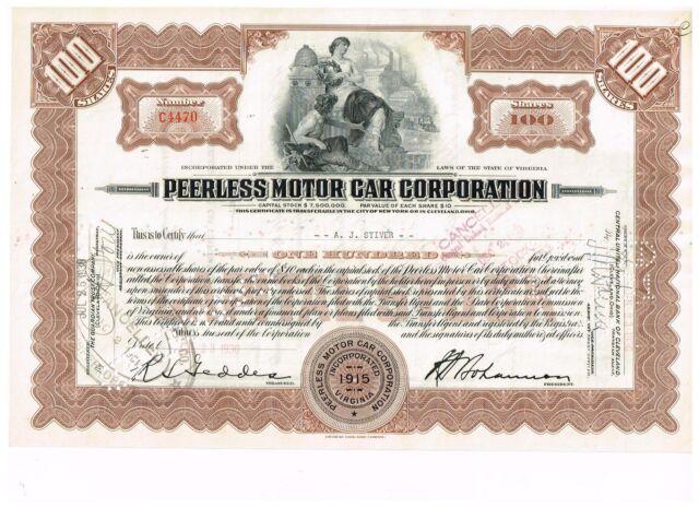 Peerless Motor Car Corp., 1930