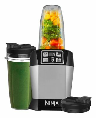 Nutri Ninja 1000W Blender with Auto-iQ - BL480UK - Silver