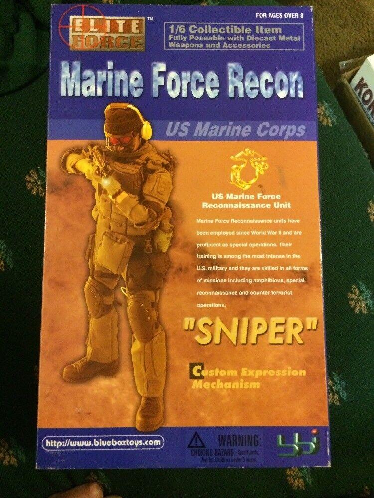 ELITE FORCE MARINE FORCE RECON RECON RECON SNIPER 12 IN CUSTOM EXPRESSION BBI DRAGON GI JOE 71edf7