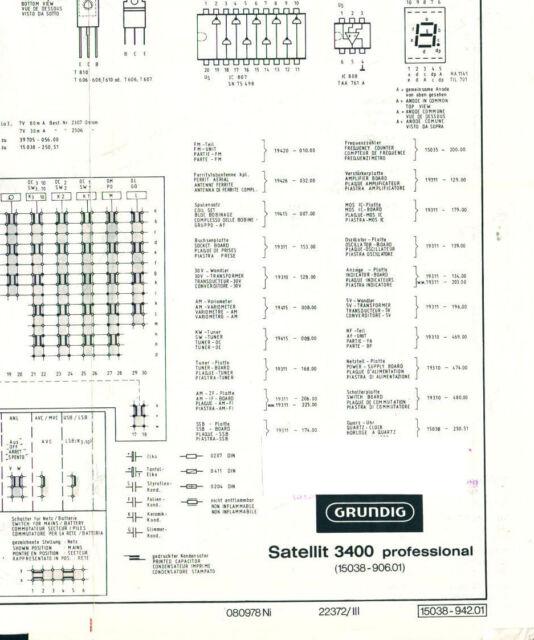 Service Manual Grundig Satellit 3400 Professional Circuit Diagram
