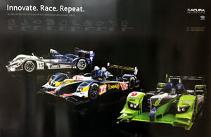 Acura Motorsports. Innovate. Race. Repeat. 2009 Out of Print  Car Poster:)