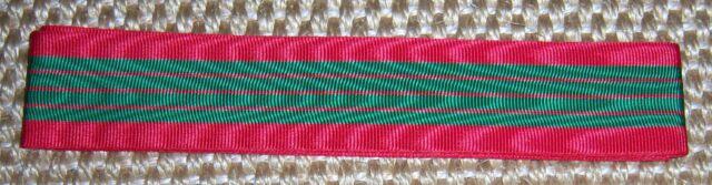 """FRENCH - Croix de Guerre Medal Ribbon, WW 2. x 6"""".  Inc. UK p&p."""