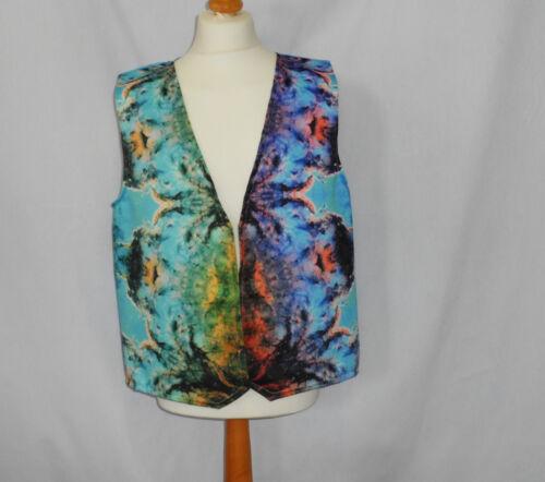 Novelty Waistcoat Kaleidoscope Fancy Dress Gift Funny Fun Gift Party Festival