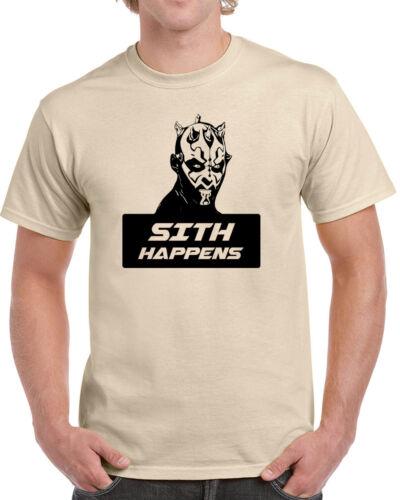 520 Sith Happens mens T-shirt funny star geek nerd jedi wars force vintage retro
