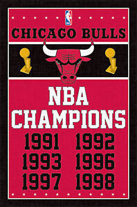 CHICAGO-BULLS-NBA-CHAMPIONS-POSTER-22x34-SHRINK-WRAPPED-BASKETBALL-2089