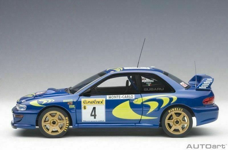 1 18 Autoart 89791 Subaru Impreza Wrc 1997 Rally Monte carlo Liatti Baduel  4