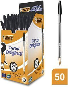BIC-Cristal-Original-Penne-Sfera-Punta-Media-1-00-mm-Nero-Confezione-da-50