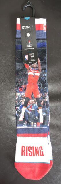 e664a5f429b4 (3) Stance John Wall Washington Wizards DC Rising 548 NBA Socks Size Large
