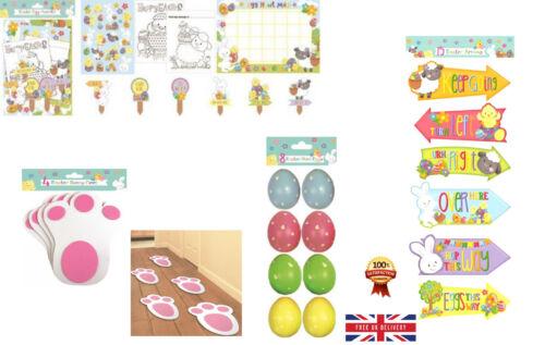 Easter Hunt Arrows Kids Party Decor Garden Egg Game Fun Sign Direction Bunny Gia