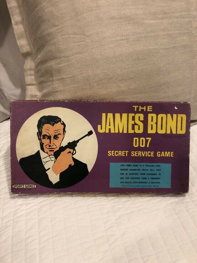 The James Bond 007 Secret Service Game 1965 Excellent Condition