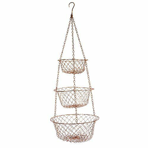 Fox Run Hanging Kitchen Basket 3 Tier Storage Rack Fruit ...