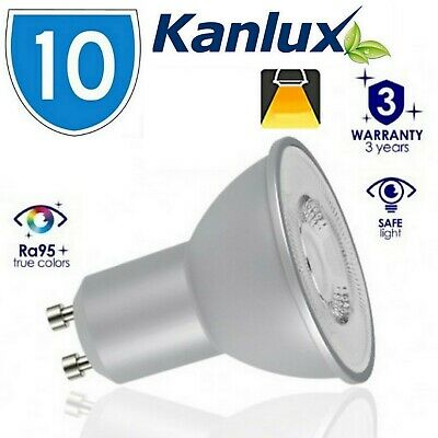 10x Kanlux TEZI LED High Lumen 6W Warm White 3000K GU10 Light Bulb Lamp 6 Watt
