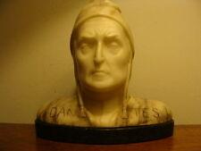 Jugendstil Marmor Alabaster Figur Büste Dantes Alighieri Divina Comedia um 1900