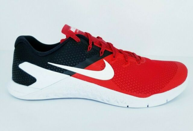 check out 1396e 8fbbb Nike Metcon 4 Red Black AH7453-600 Cross Training Shoes Men's Multi Size