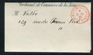 """Travailleur Lettre De Paris En 1925 , Oblitération Rouge """" Imprimés - Paris * Pp30 * """" Belle Qualité"""