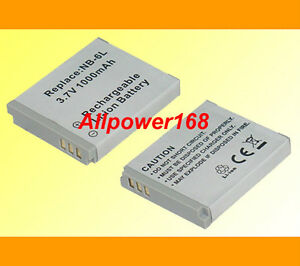 Battery For NB6L NB6LH NB6L Canon Powershot SD980IS SD1200 IS