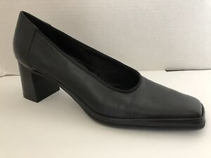 Rangoni-Firenze-Shoes-Womens-Size-10-AA-Black-Heels-Narrow-10AA-Italy-Pumps