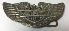 Vintage Harley Davidson Belt Buckle Motorcycle Wings Brass