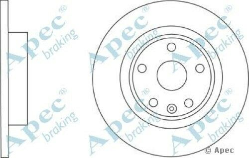1x OE Quality Replacement Rear Axle Apec Solid Brake Disc 5 Stud 292mm Single