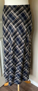 Hobbs-100-Pur-New-Wool-Maxi-Skirt-Lined-Blowns-Checked-Uk-10