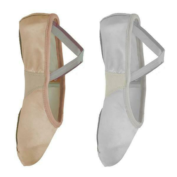 HALF PRICE - Starlite Split Sole Flexi WHITE Satin Ballet Shoes