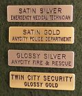 Engraved Brass Uniform Name Tags - 2 lines