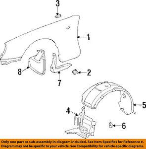 toyota oem 93 98 supra front fender liner splash shield left Fender Stratocaster Schematic Diagram image is loading toyota oem 93 98 supra front fender liner