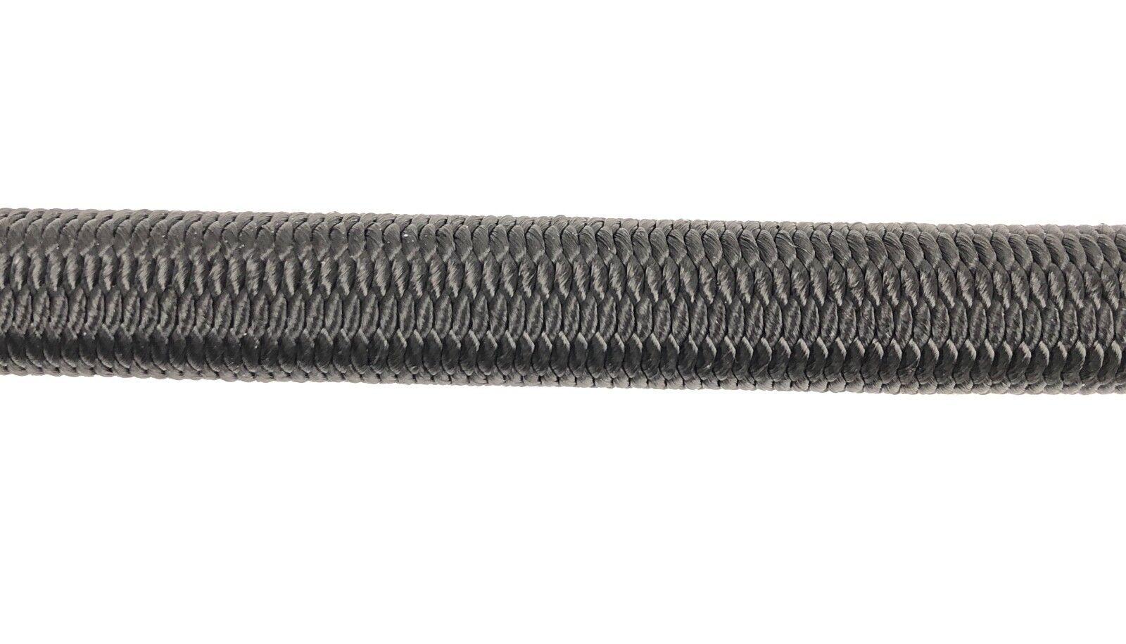 12mm Schwarz Schwarz Schwarz Elastischer Gummizug Seil Gummiseil Festbinden UV Stabil d4ca06